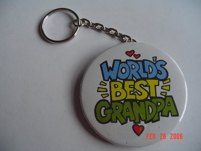 World's Best Grandpa Keychain Grandparents children Mom Dad