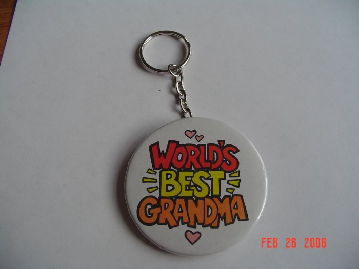 Worlds Best Grandma Keychain Grandparents children Mom Girls