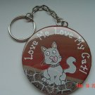 Love Me..Love My Cat Keychain Pets Animal Pet Kittens Cats