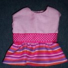 XS Pink Stripes Dog Dress, apparel, clothing, pet, clothes