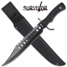 "17"" Rubber Handle, Black saw back blade 4mm thich with sheath"