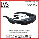 Free DHL shipping 72 inch mobile theatre video glasses 16:9 goggles with av in function