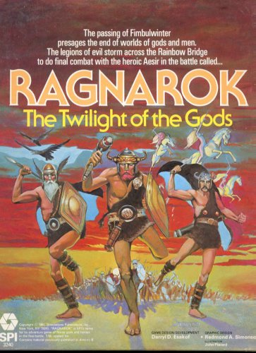 Ragnarok - TWILIGHT OF THE GODS 1981 SPI Boxed Complete Unpunched VG Cond