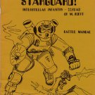 STARGUARD! - Battle Manual - 2250AD - M. Scott - 1974 McEwan Miniatures