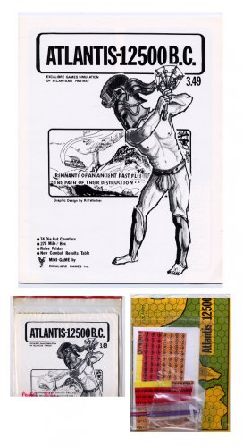 ATLANTIS 12500bc - Excalibre games simulation fantasy LIKE NEW UNPUNCHED