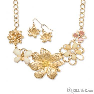 Spring Bouquet Fashion Necklace Set