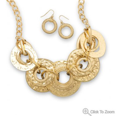 Streets of Gold Fashion Necklace and Earring Set