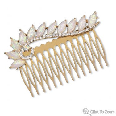 Gold Tone Fashion Hair Comb