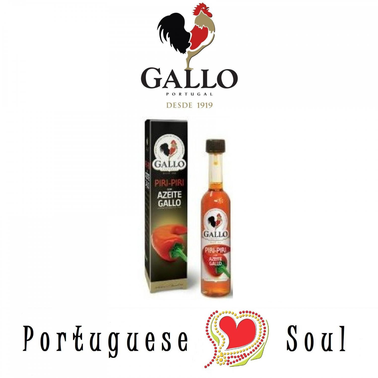 Olive Oil with Piri Piri | Spicy Sauce GALLO 50 ml