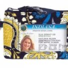 NWT Vera Bradley Zip ID Case in  Ellie Blue