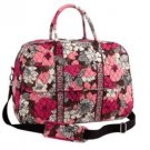 NWT Vera Bradley Grand Traveler in Mocha Rouge