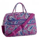 NWT Vera Bradley Weekender in Boysenberry