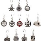 Metal - 12pc Set Assorted Fashion Zipper Pulls