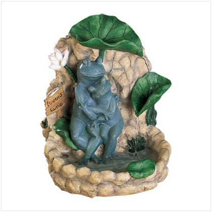 Loving Frogs Tabletop Fountain