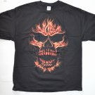 New Motorcycle Graphic T-shirt w/ Skull Fire Size 2XL