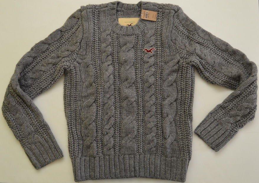 M195 New Mens sweater HOLLISTER Size L Crewneck MSRP $150.00