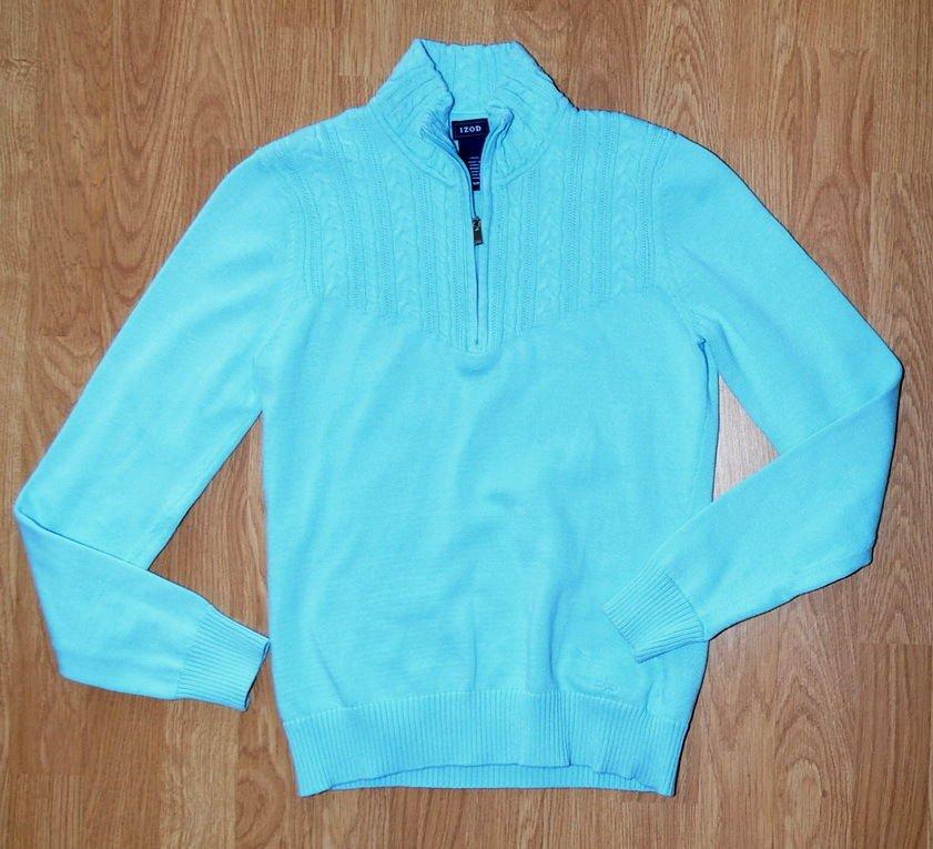 N028 Women's sweaters IZOD Size S w/ zip