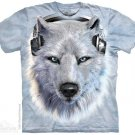 The Mountain Graphic Tee White Wolf DJ T-shirt Size M