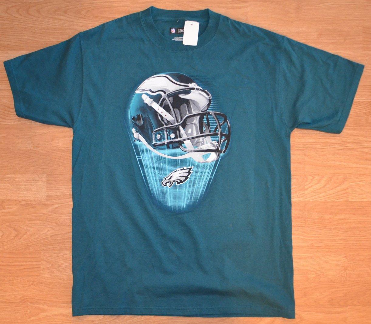 N992 New Men's T-shirt TEAM APPAREL NFL Size L 100% cotton