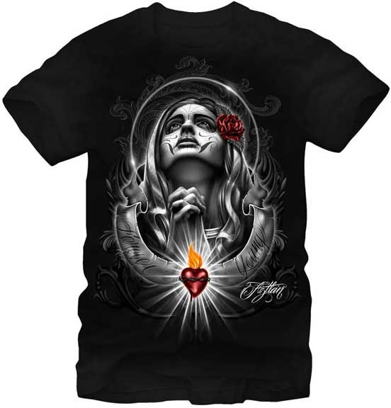Fifth Sun Graphic Mens T-shirt Aztlan Forever Young Size XL