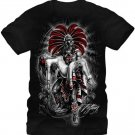Fifth Sun Graphic Mens T-shirt Aztlan Moctezuma Size L