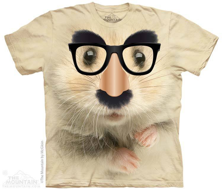 The Mountain Graphic Tee Big Face Hamster Of Mystery T-Shirt Size L