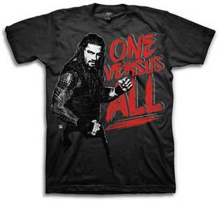 Mens Graphic Tee WWE Reigns One Versus All Adult T-shirt Size L