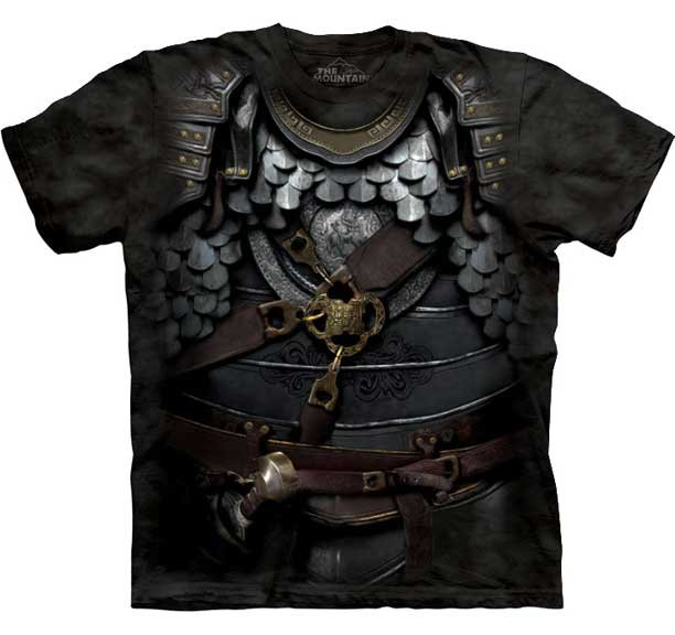 The Mountain Mens Graphic Tee Centurian Armor T-shirt Size S