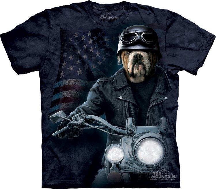The Mountain Mens Graphic Tee Biker Sam T-shirt Size M