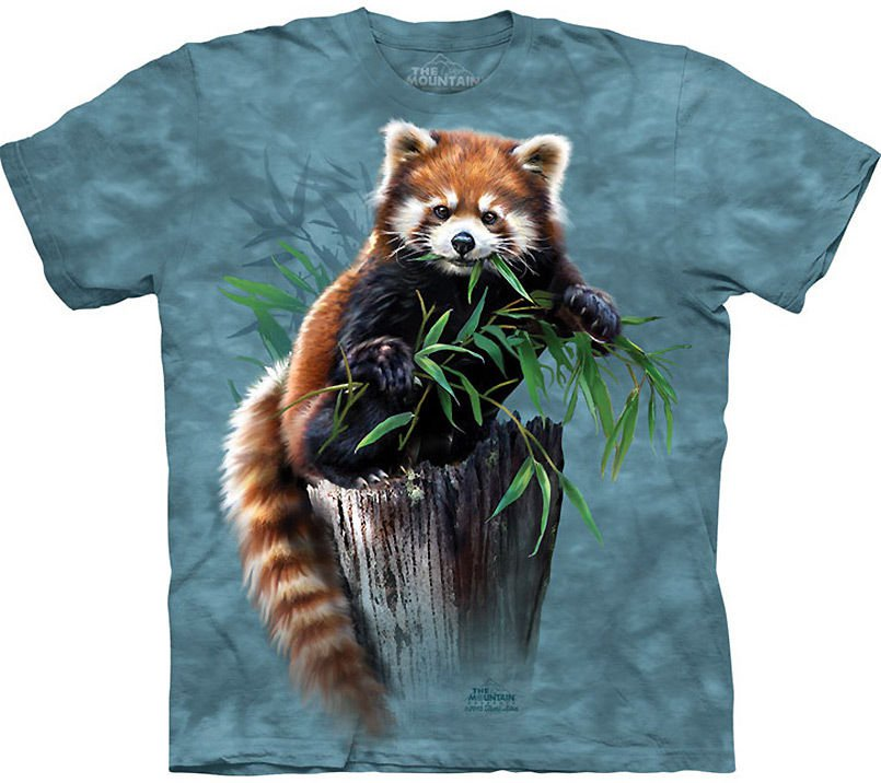 The Mountain Graphic Tee Bamboo Red Panda T-Shirt Size M