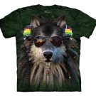 The Mountain Graphic Tee Rasta Wolf T-Shirt Size XL