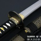 Japanese Samurai Sword Hand Forged Carbon Steel Blade Traditional Wakizashi & Cloth Sword Bag