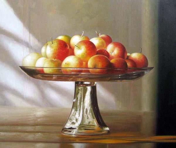 "Crab Apples On Pedestal 20"" x 24"" Original Oil"