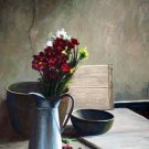 "Rustic dried flowers still life 20"" x 24"" Original Oil"