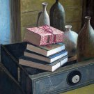 "Still life with books and vases 20"" x 24"" Original Oil"