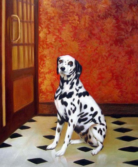 "Portrait of Dalmatian Dog 20"" x 24"" Original Oil"