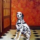 "Portrait of Dalmatian Dog 20"" x 24"" Original Oil"