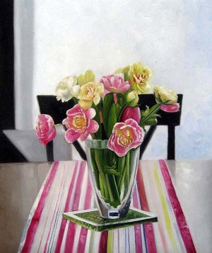 "Mixed bouquet of flowers 20"" x 24"" Original Oil"