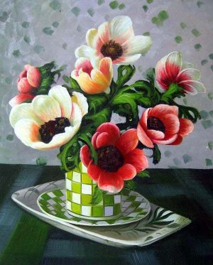 "Poppy Arrangement 20"" x 24"" Original Oil"