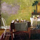 "Dining Table in Rustic Room 20"" x 24"" Original Oil"