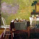 "Dining Table in Rustic Room 20"" x 24"" Original Oil"