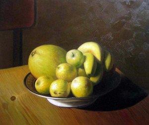 """Fruit in bowl still Life 20"""" x 24"""" Original Oil"""