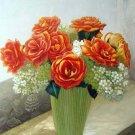 """Arrangement of Roses and Lilacs 20"""" x 24"""" Original Oil"""