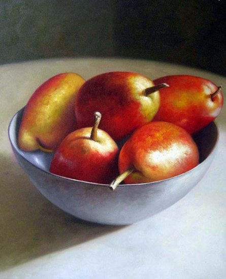 "Red Pears Still Life 20"" x 24"" Original Oil"