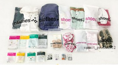 23 PCS Multifunctional Transparent Storage Bag Travel Storage Finishing Bag