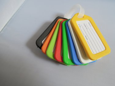 8 Colors Plastic Luggage Tag Travel Suitcase Tag Set