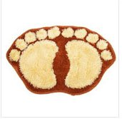 Brown Cute Big Feet Bathroom Absorbent Mats Door mats Footprints Floor Rugs & Floor Mats