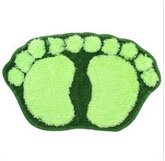 Green Cute Big Feet Bathroom Absorbent Mats Door mat Footprints Floor Rug & Floor mat