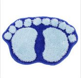Blue Cute Big Feet Bathroom Absorbent Mats Doormat Footprints Floor Rug & Floor Mats