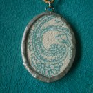 Glass Encased Fabric Necklace